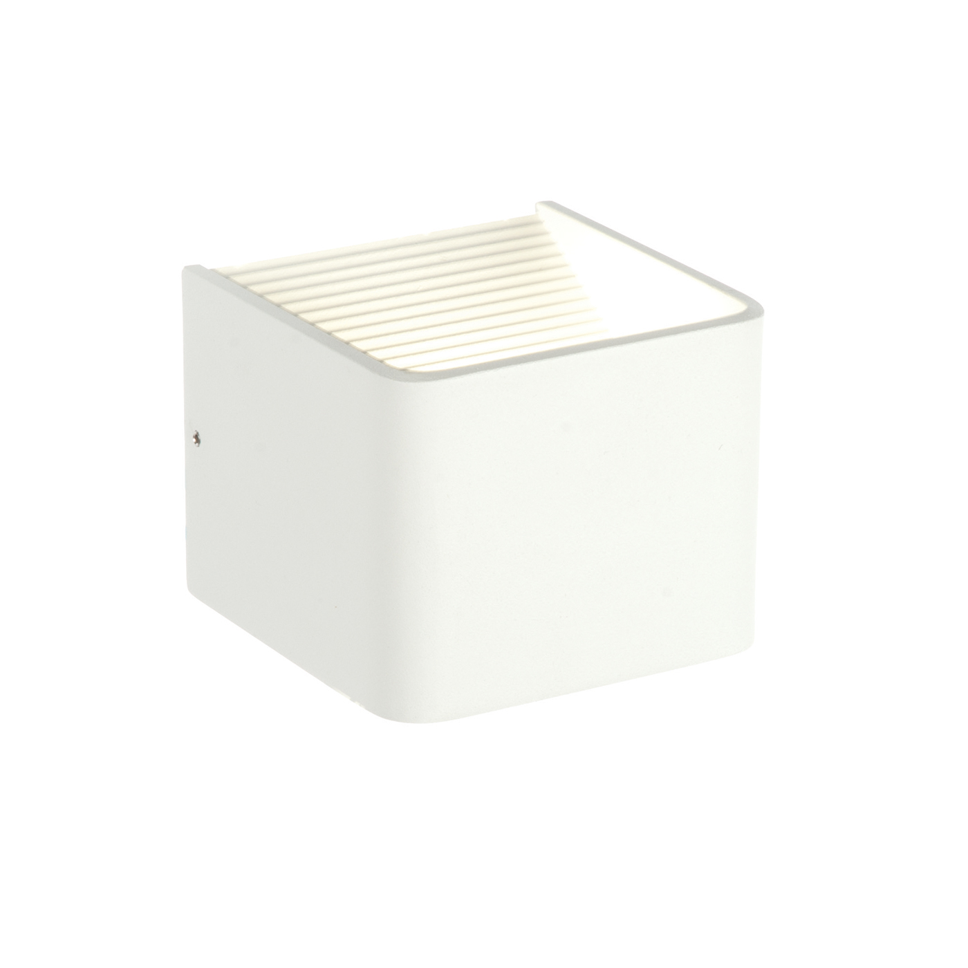 Endon Slater 1lt 100mm wall uplighter 6W Textured matt white paint clear acrylic Thumbnail 1