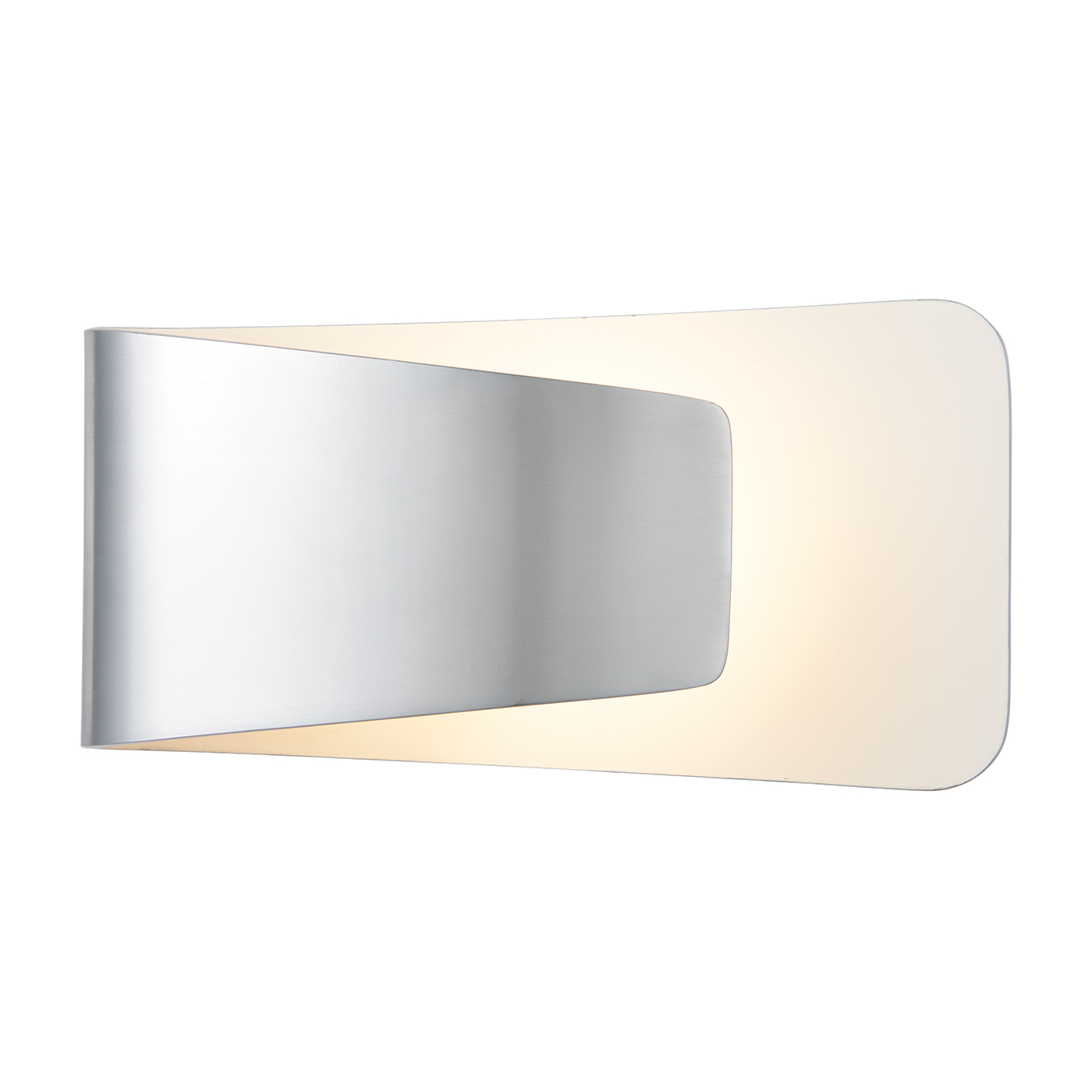 Endon Jenkins 1lt wall light 7.5W Polished aluminium & matt white paint Thumbnail 1