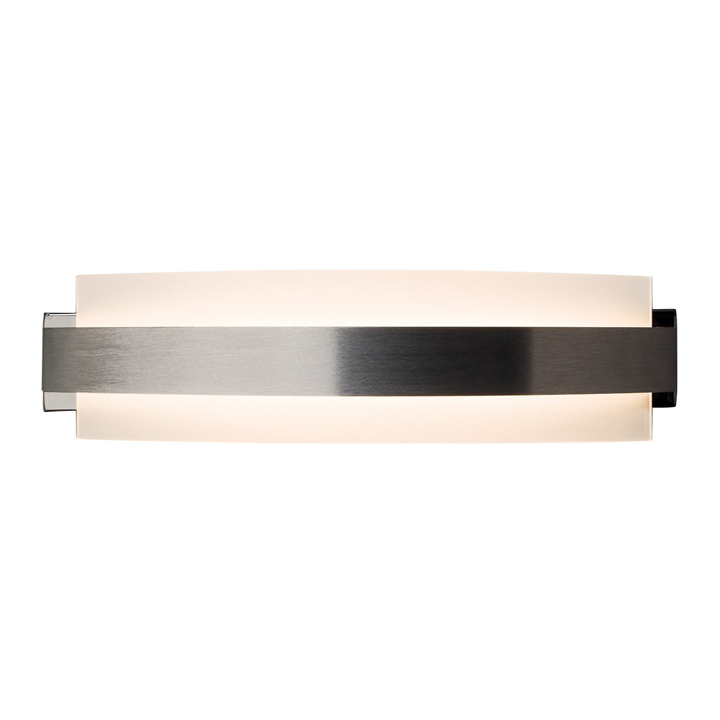 Endon Matson 1lt 350mm wall light 7W Brushed aluminium & frosted glass Thumbnail 1