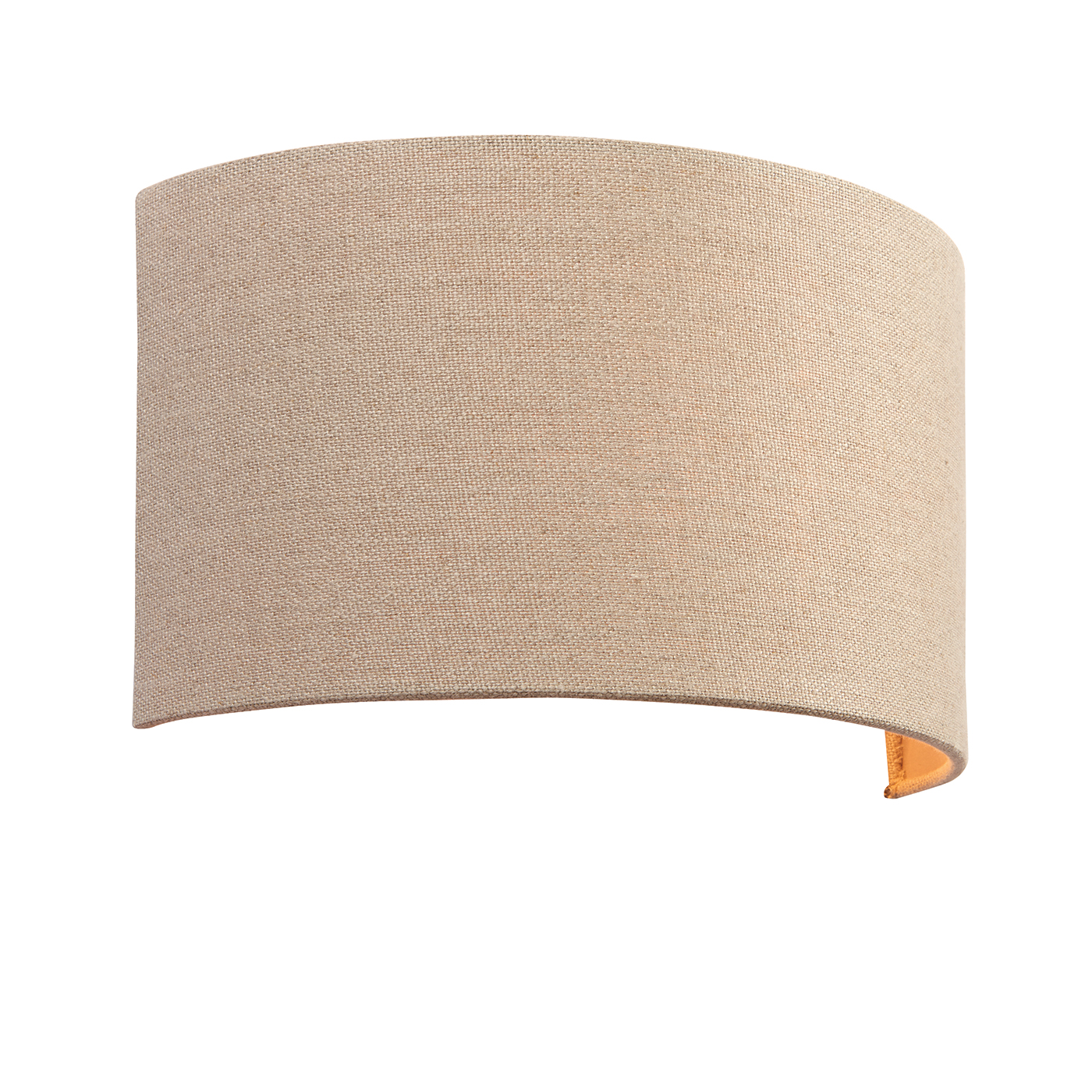 Endon Obi 1lt wall light 40W Natural linen fabric & natural polyester cotton