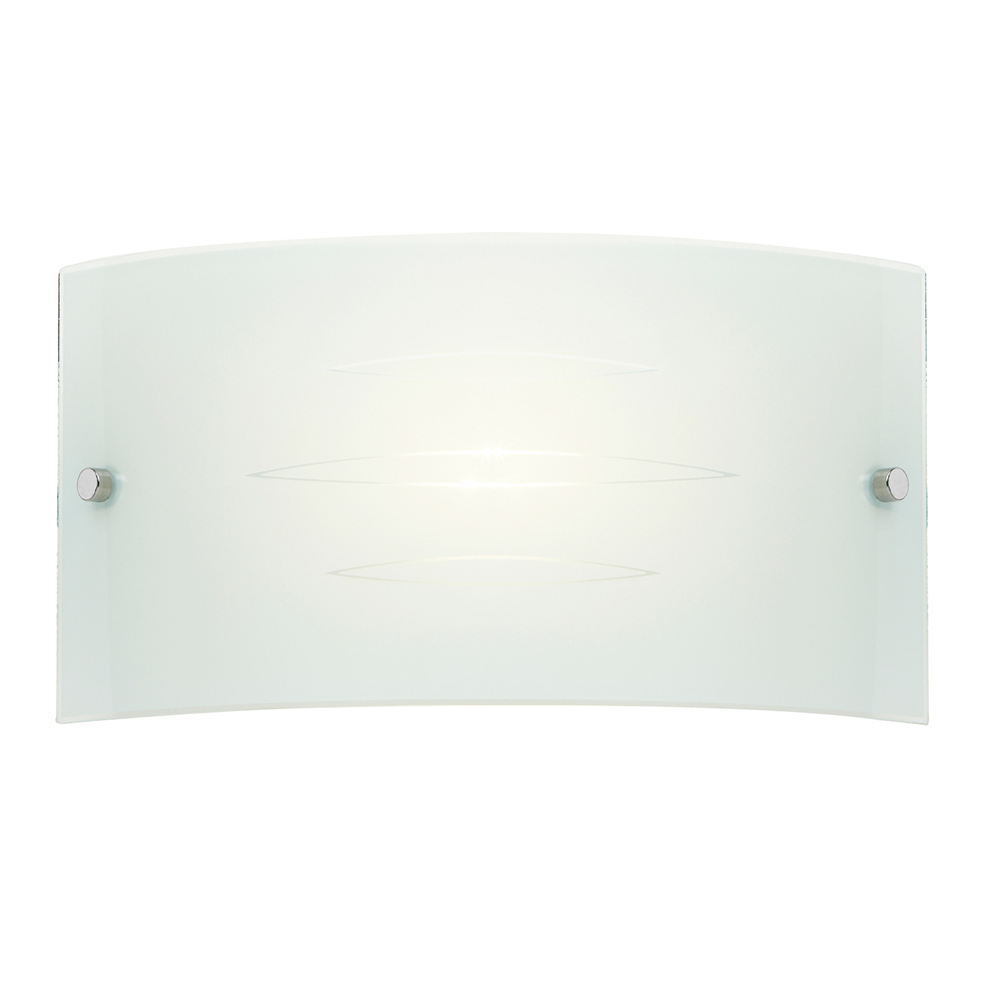 Endon Hadley 1lt wall light 40W Patterned gloss white glass & satin chrome plate Thumbnail 1