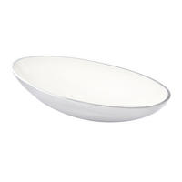 Endon Chappell large bowl Polished aluminium enamel H: 70mm  W: 330mm  D: 165mm