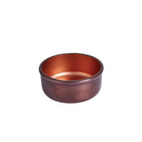 Endon Ridley small bowl Aged copper effect & matt copper H: 55mm Dia: 135mm