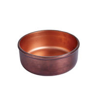 Endon Ridley medium bowl Aged copper effect & matt copper H: 67mm Dia: 185mm