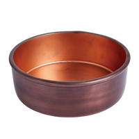 Endon Ridley large bowl Aged copper effect & matt copper H: 80mm Dia: 245mm
