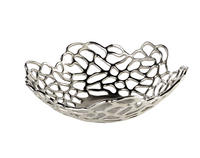 Endon Pablo bowl Polished nickel plate H: 135mm  Dia: 430mm