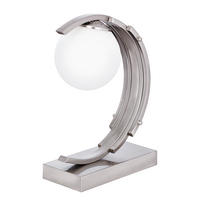 Endon Surf touch task light 25W Satin chrome effect plate & matt opal glass