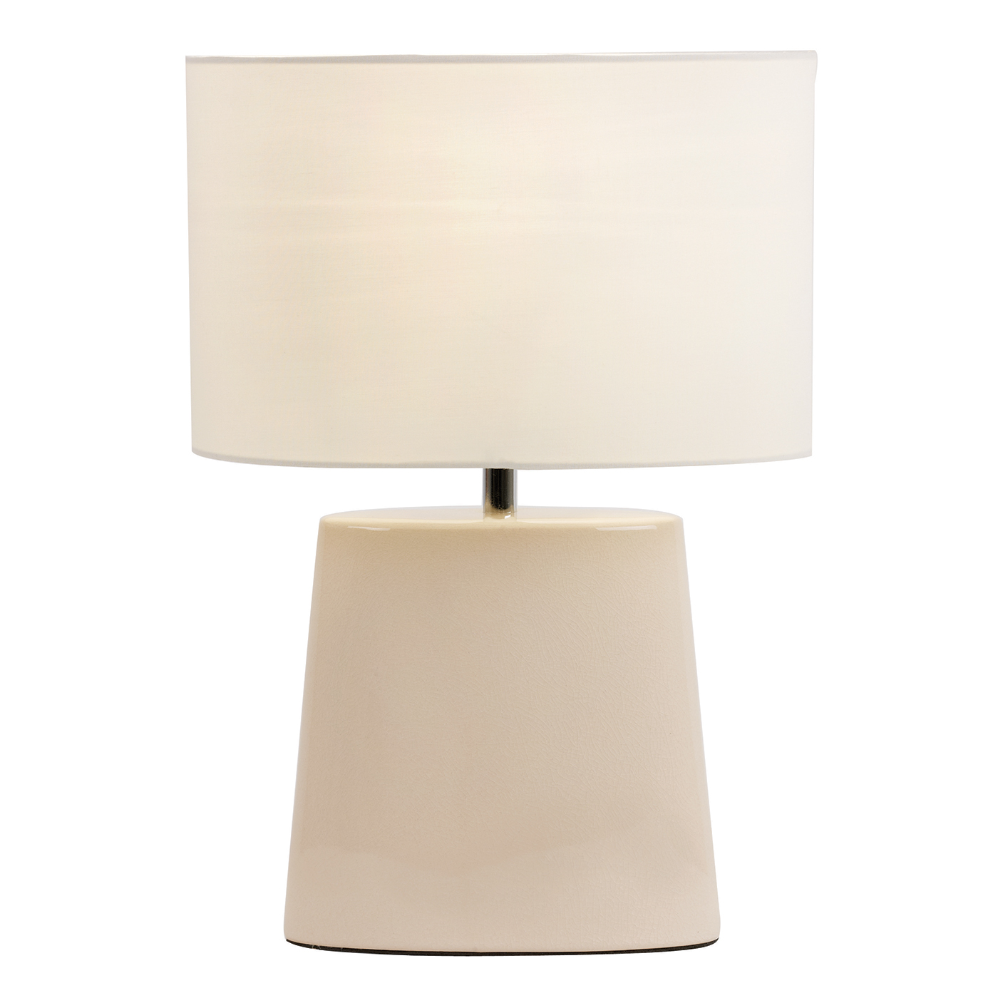 Endon Iris table lamp 60W Cream crackle glaze & cream tc fabric Thumbnail 1