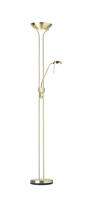 Endon Rome mother & child task floor lamp 230W & 33W Satin brass & opal glass