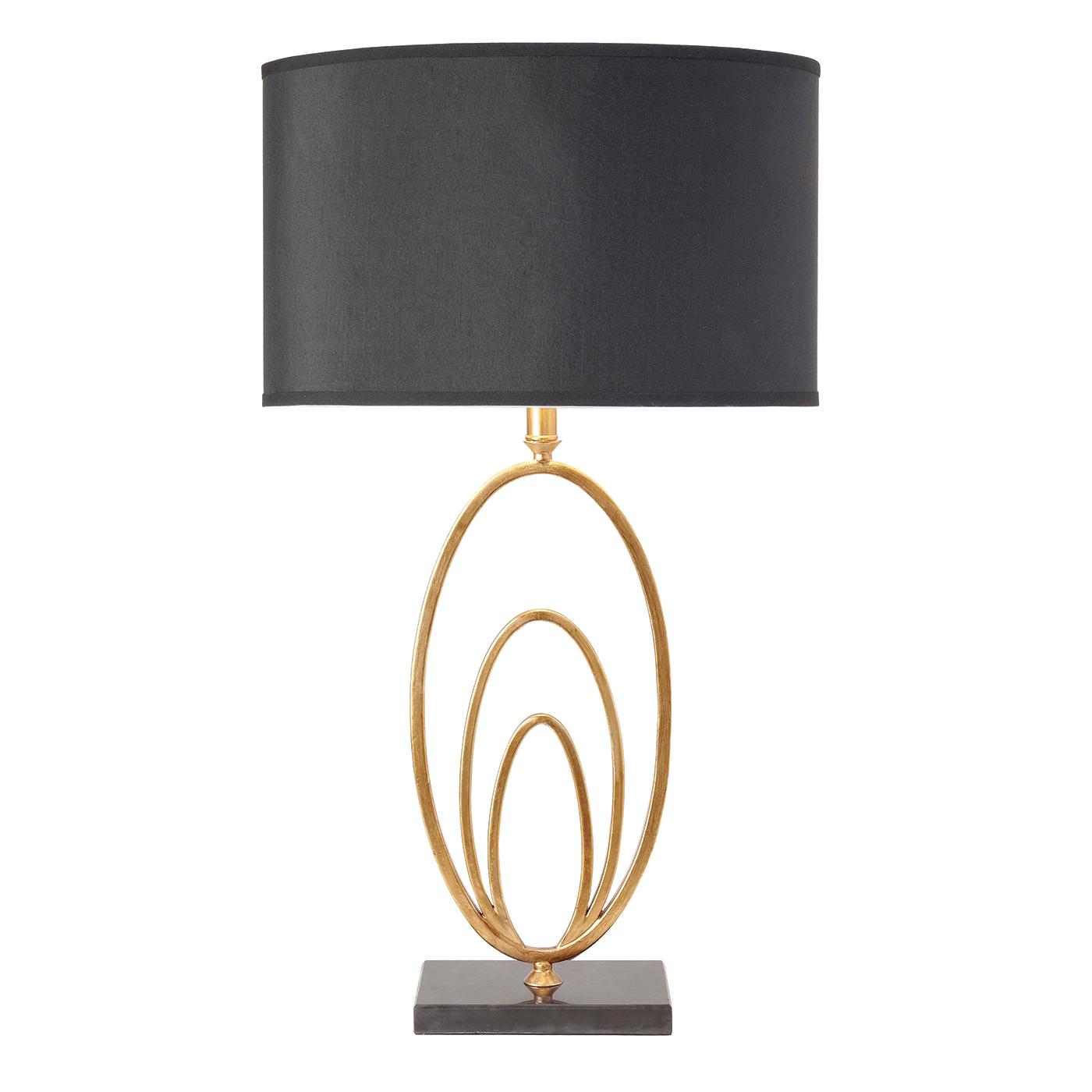 Endon Vilana Table Lamp 60w Black Faux Silk Amp Antique Gold