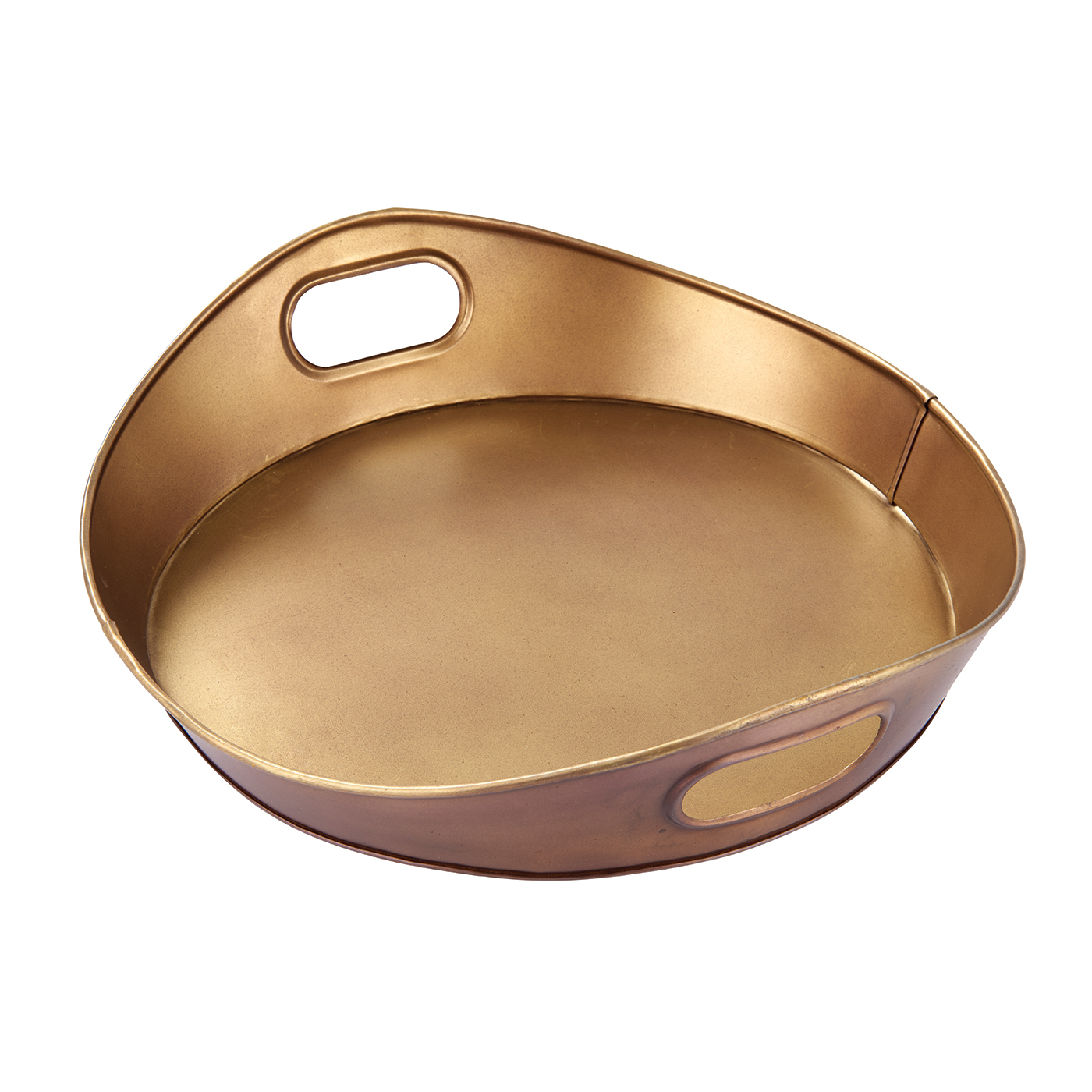 Endon Harding medium tray Aged brass effect plate H: 90mm W: 365mm L: 390mm
