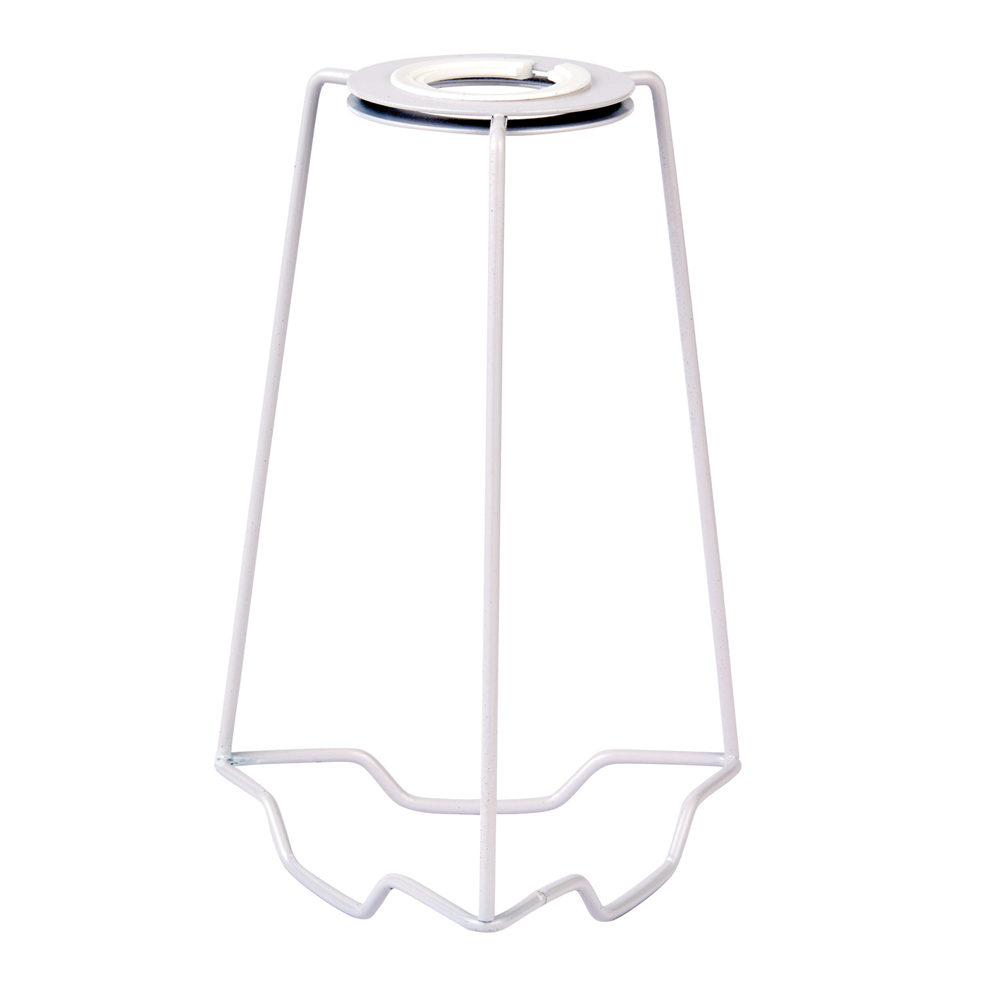 Endon SC-7 lampshade carrier 7 inch Gloss white 195mm height x 125mm diameter Thumbnail 1