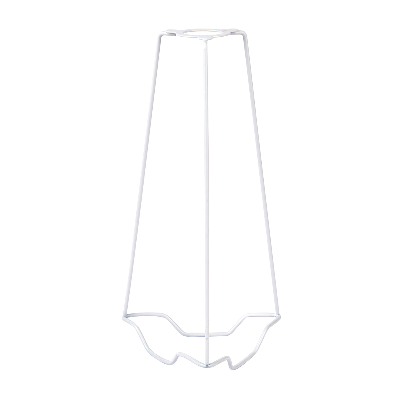 Endon SC-9 lampshade carrier 9 inch Gloss white 250mm height x 125mm diameter Thumbnail 1