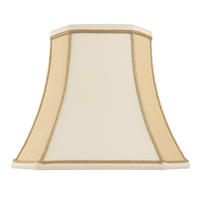 Endon Camilla lampshade 5.5 inch Two-tone cream faux silk 125mm H x 140mm D max.
