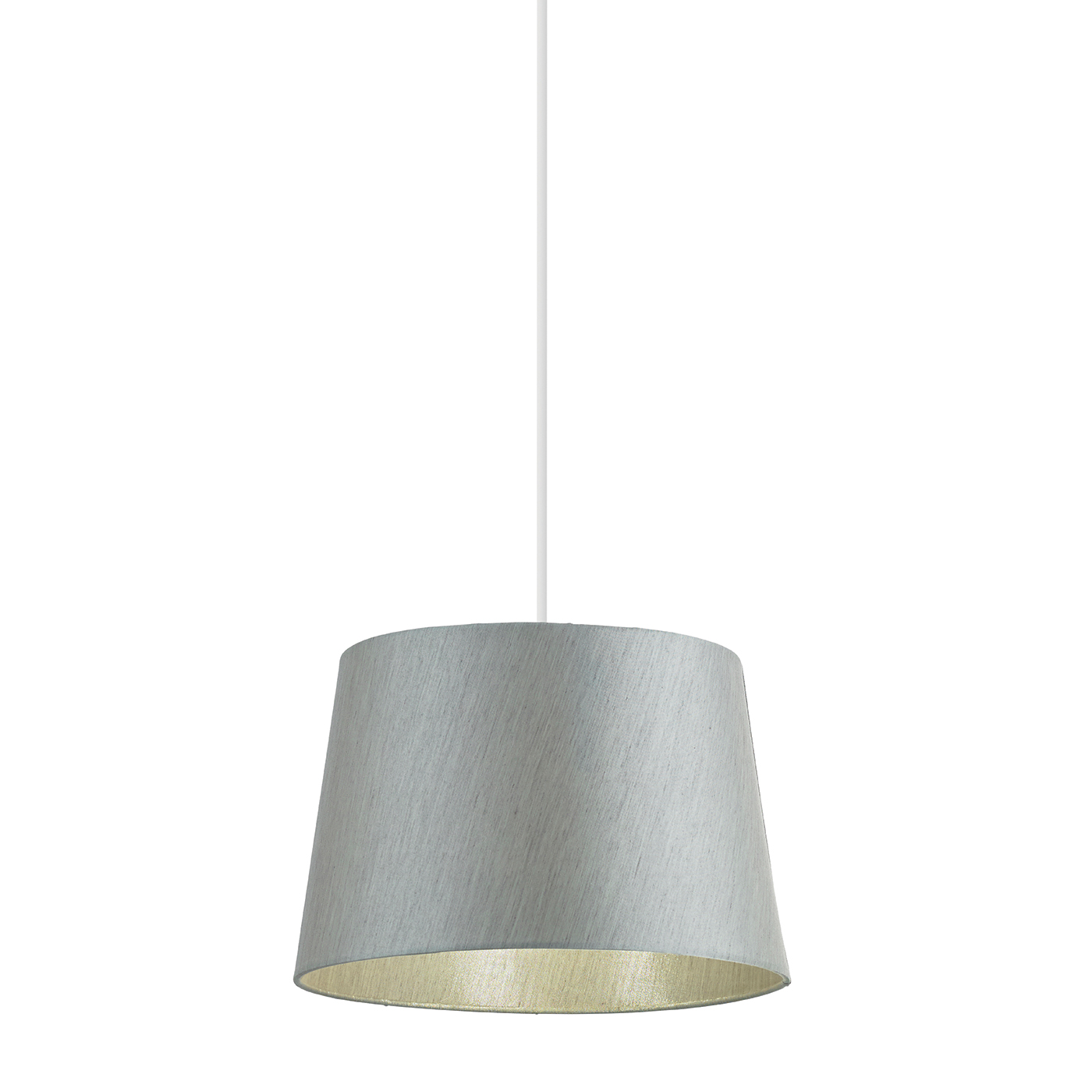 Endon Cordelia lampshade 12 inch Silver grey faux silk 200mm H x 305mm D max. Thumbnail 1