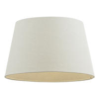 Endon Cici lampshade 14 inch Ivory linen effect 220mm H x 355mm D max.
