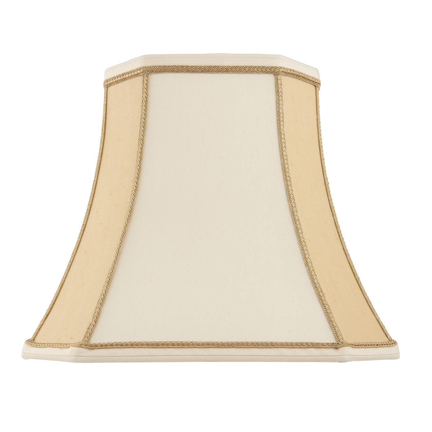Endon Camilla lampshade 10 inch Two-tone cream faux silk 225mm H x 255mm D max. Thumbnail 1