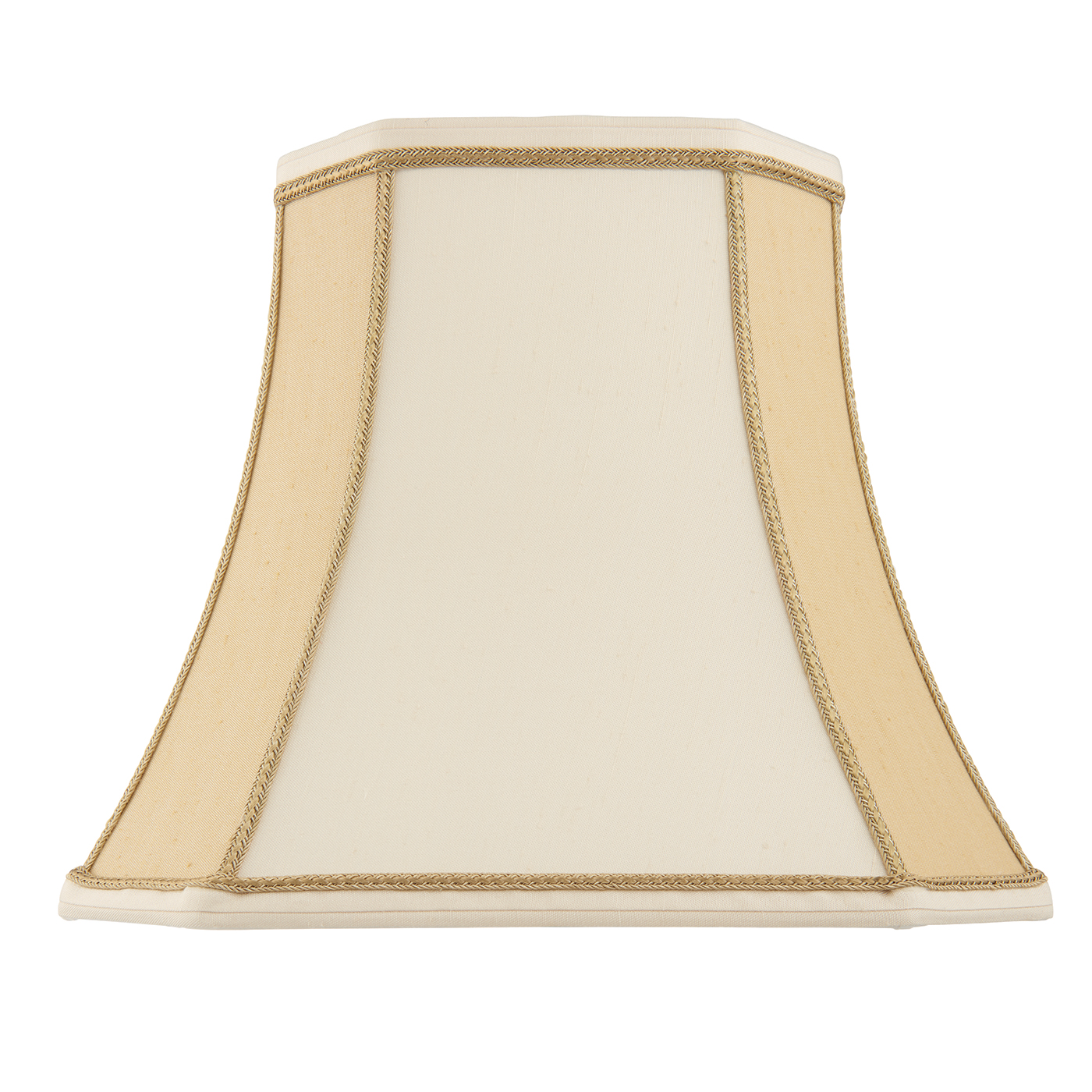 Endon Camilla lampshade 14 inch Two-tone cream faux silk 300mm H x 355mm D max.