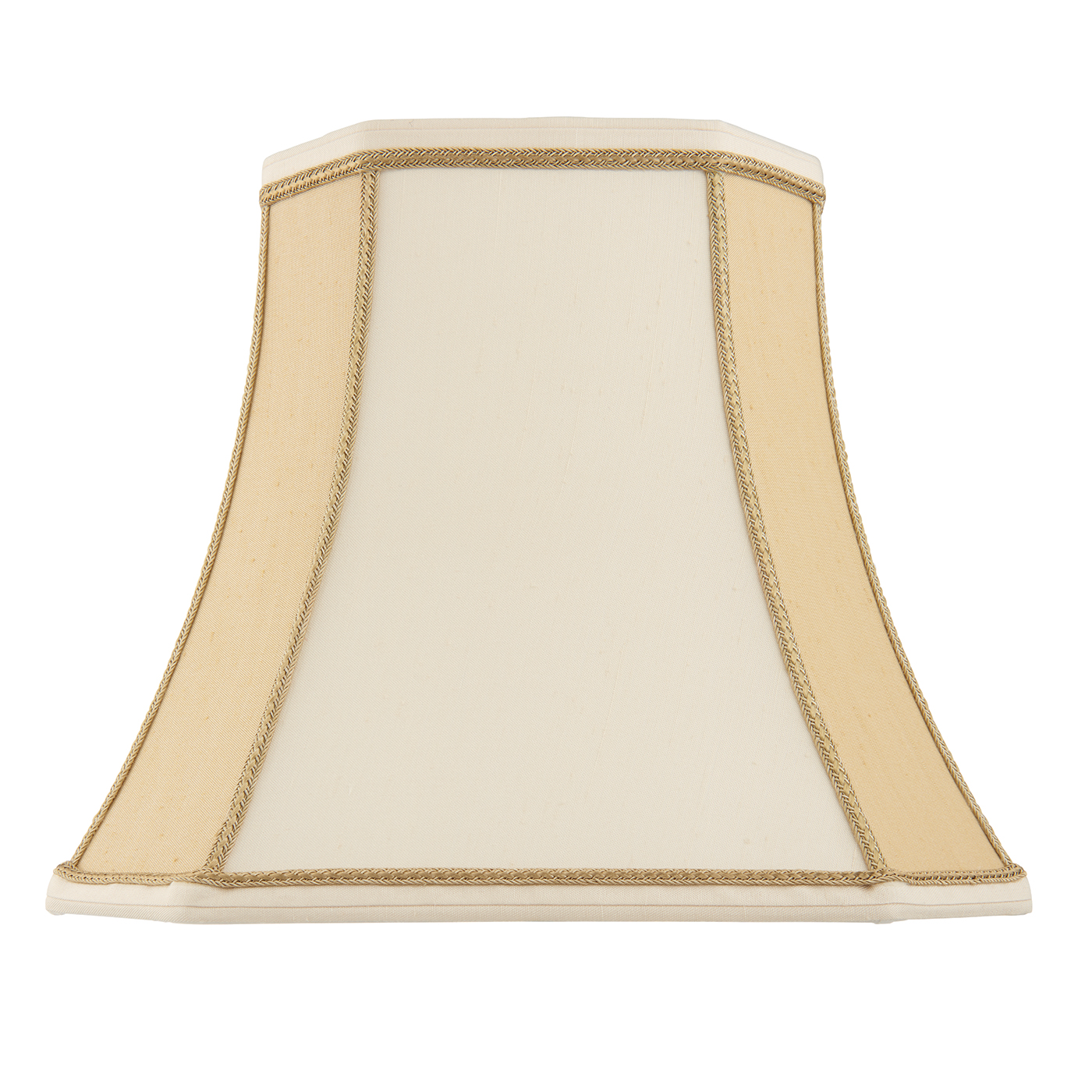 Endon Camilla lampshade 16 inch Two-tone cream faux silk 315mm H x 410mm D max.