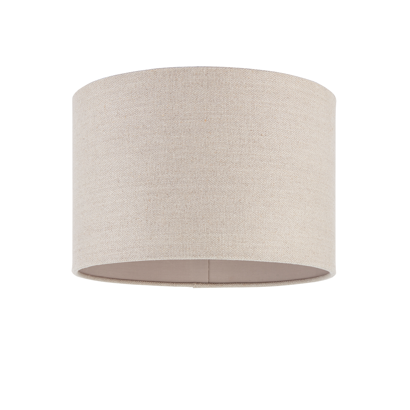 Endon Obi lampshade 12 inch Natural linen polyester cotton 200mm H x 300mm D Thumbnail 1