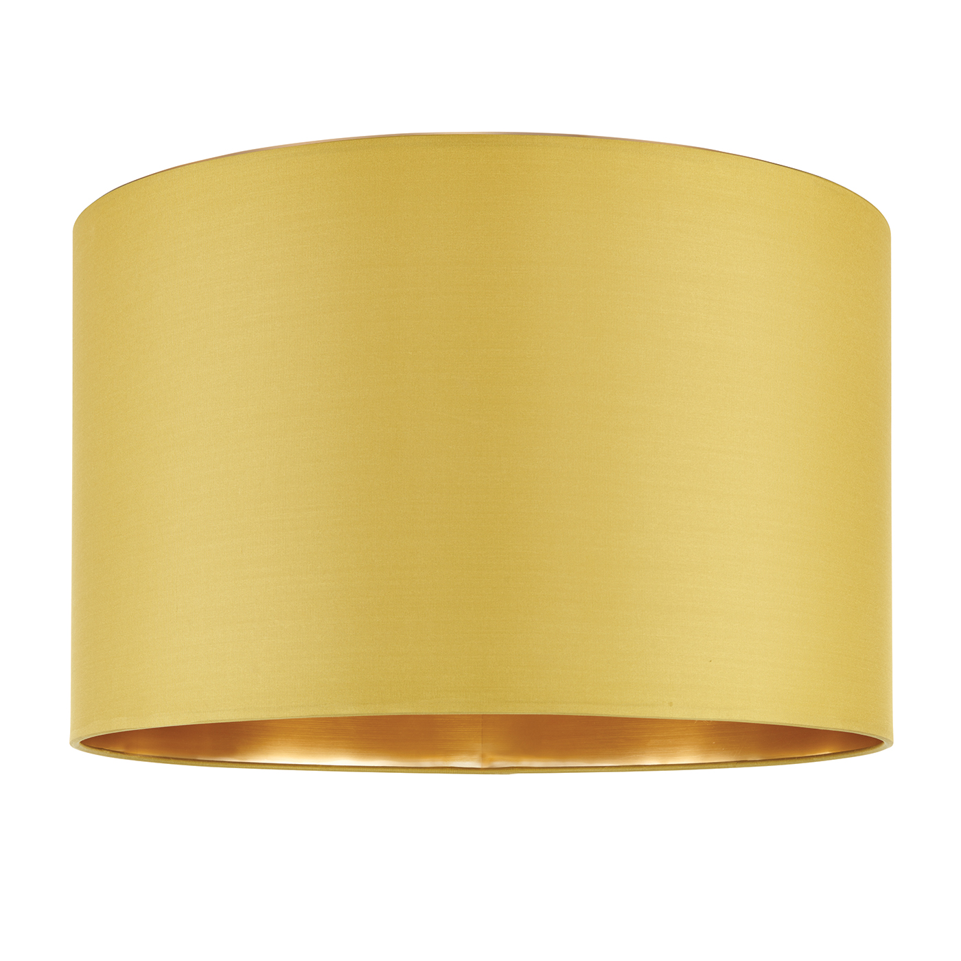 Endon Boutique lampshade 16 inch Chartreuse silk brushed gold 250mm H x 400mm D