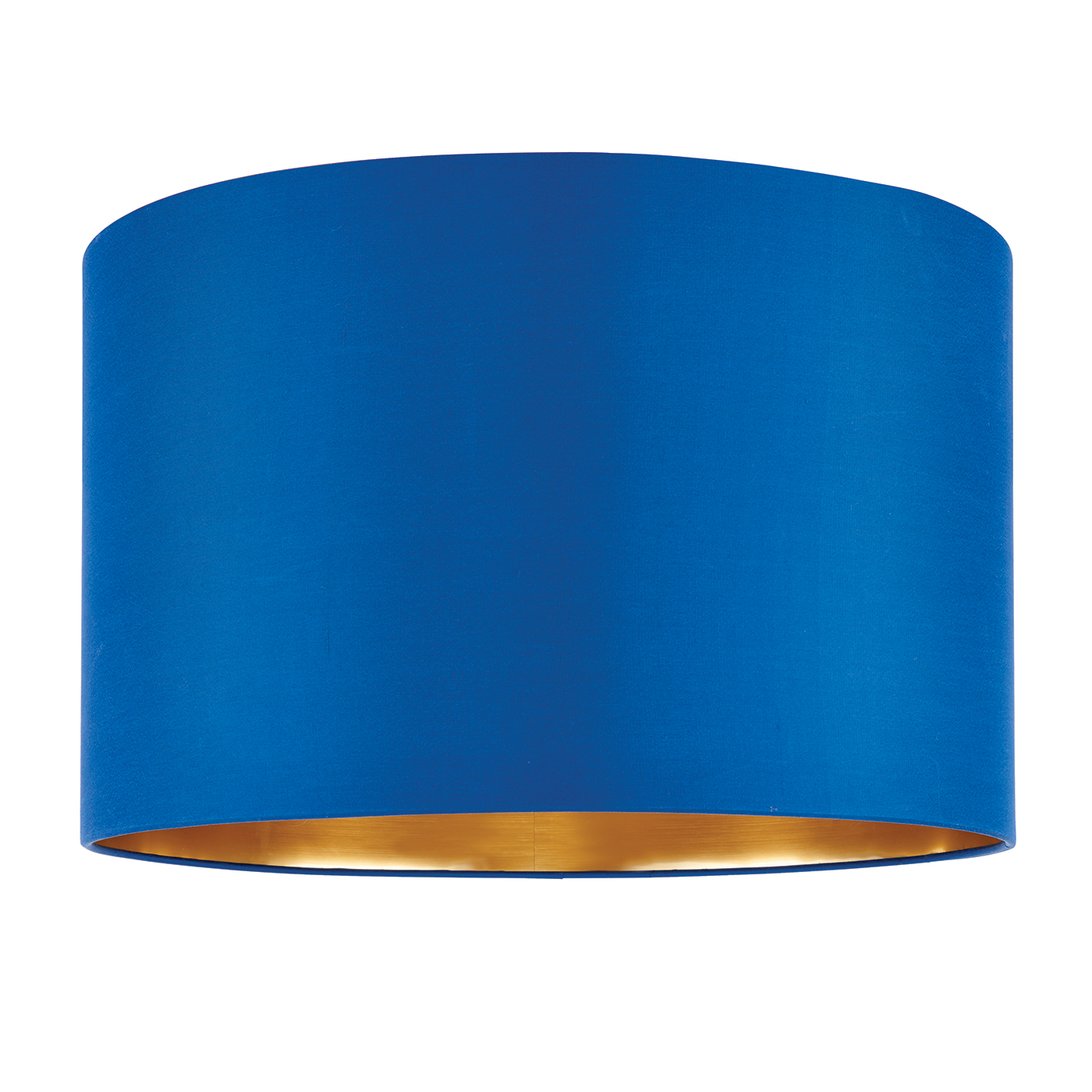 Endon Boutique lampshade 16 inch Midnight blue silk gold 250mm H x 400mm D Thumbnail 1