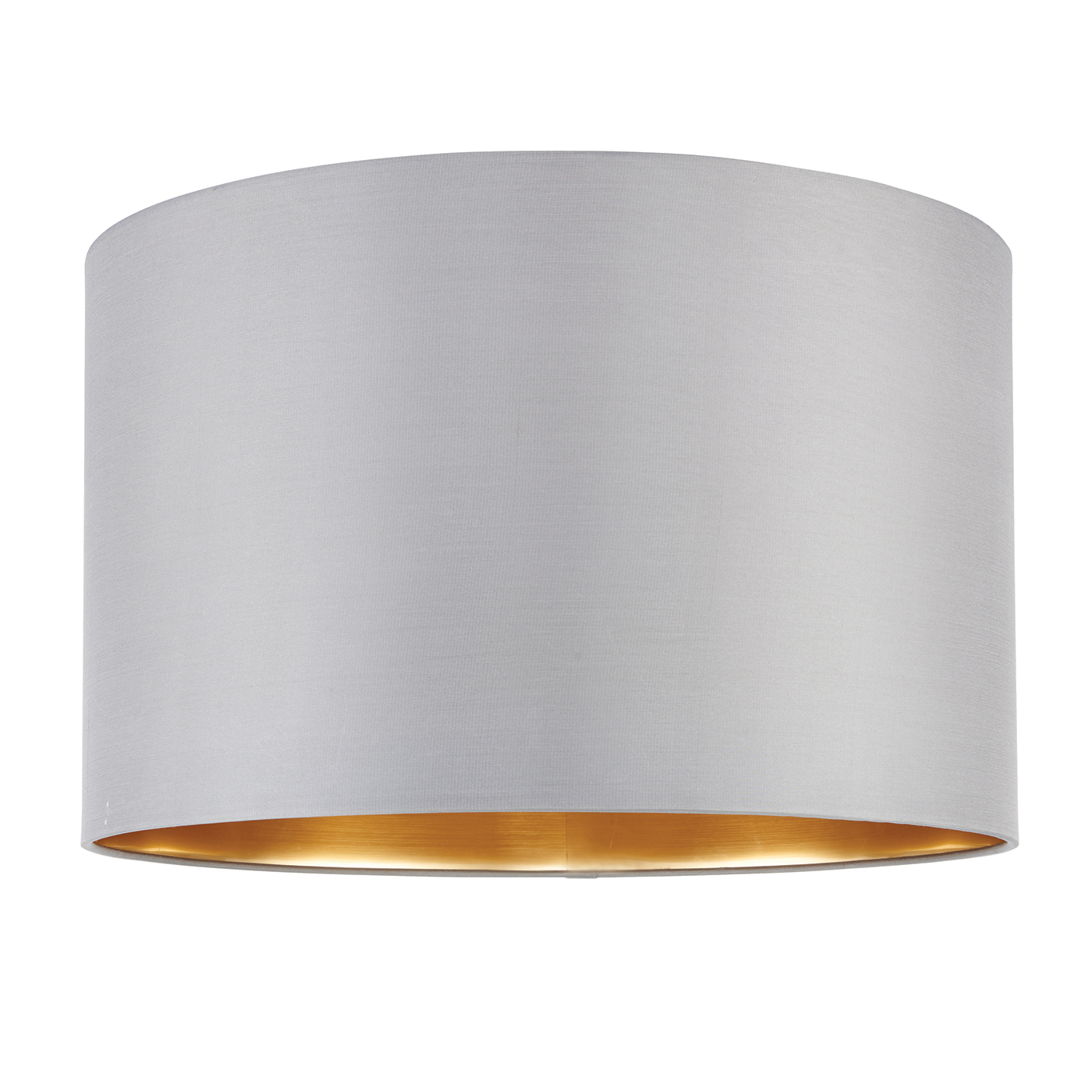 Endon Boutique lampshade 16 inch Slate grey silk brushed gold 250mm H x 400mm D
