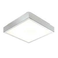Endon Cubita 290mm square bathroom ceiling light HF IP44 28W chrome & acrylic