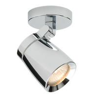 Endon Knight 1lt bathroom ceiling spotlight IP44 35W Chrome effect plate glass