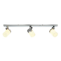 Endon Cosmo 3lt bathroom ceiling spotlight IP44 18W chrome opal glass