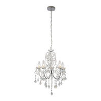 Endon Tabitha 5lt bathroom pendant IP44 18W crystal (k9) glass detail & chrome
