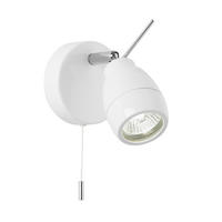 Endon Travis 1lt bathroom ceiling spotlight IP44 28W Matt white paint glass