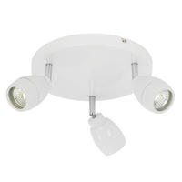 Endon Travis 3lt bathroom ceiling spotlight IP44 28W Matt white paint glass