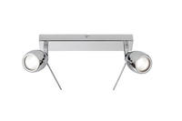 Endon Travis 2lt bathroom ceiling spotlight IP44 28W Chrome effect plate glass
