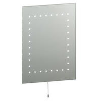 Endon Mareh LED bathroom mirror IP44 2.5W pull cord H: 500mm W: 390mm