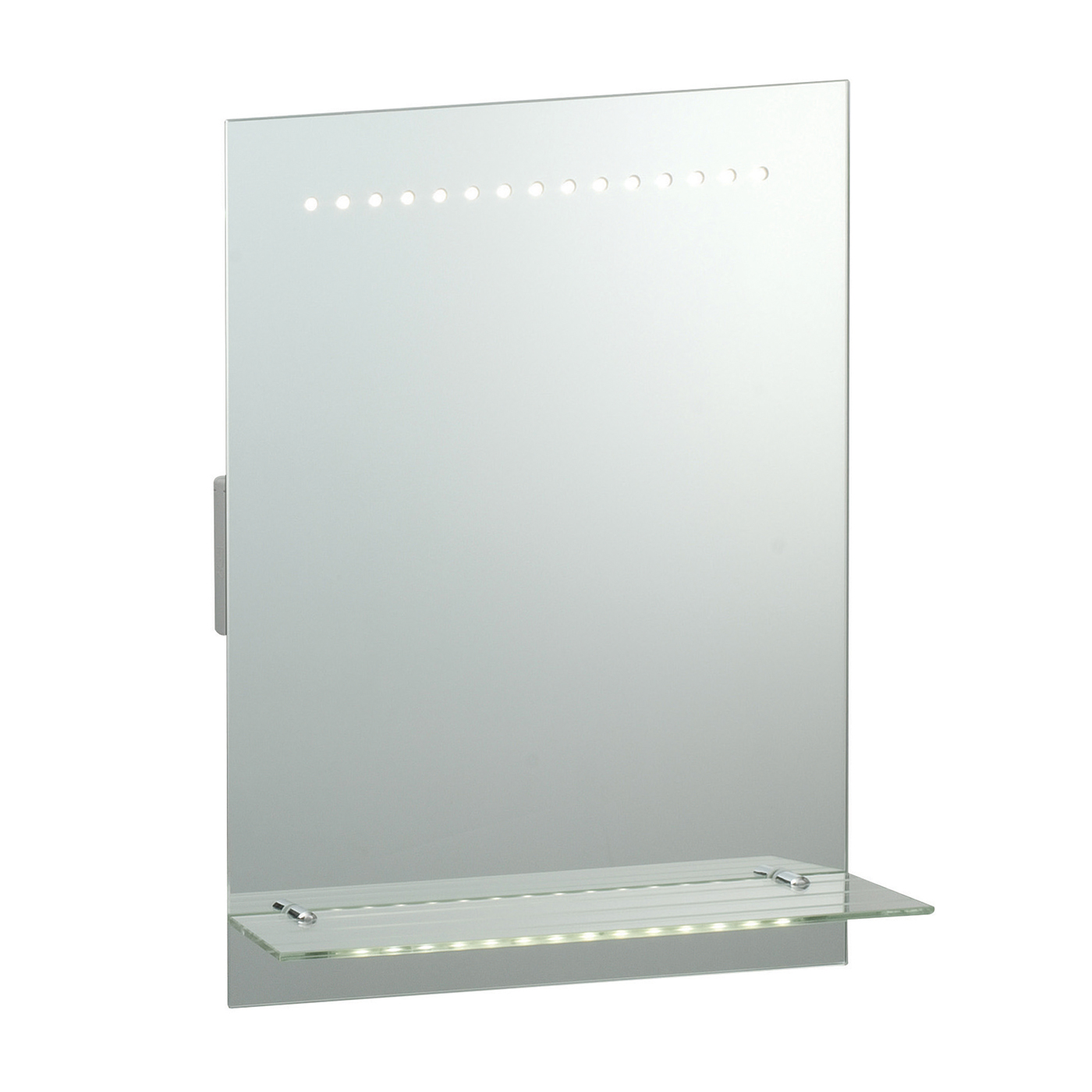 Endon Omega LED shaver bathroom mirror IP44 1W sensor H: 500mm W: 390mm Thumbnail 1
