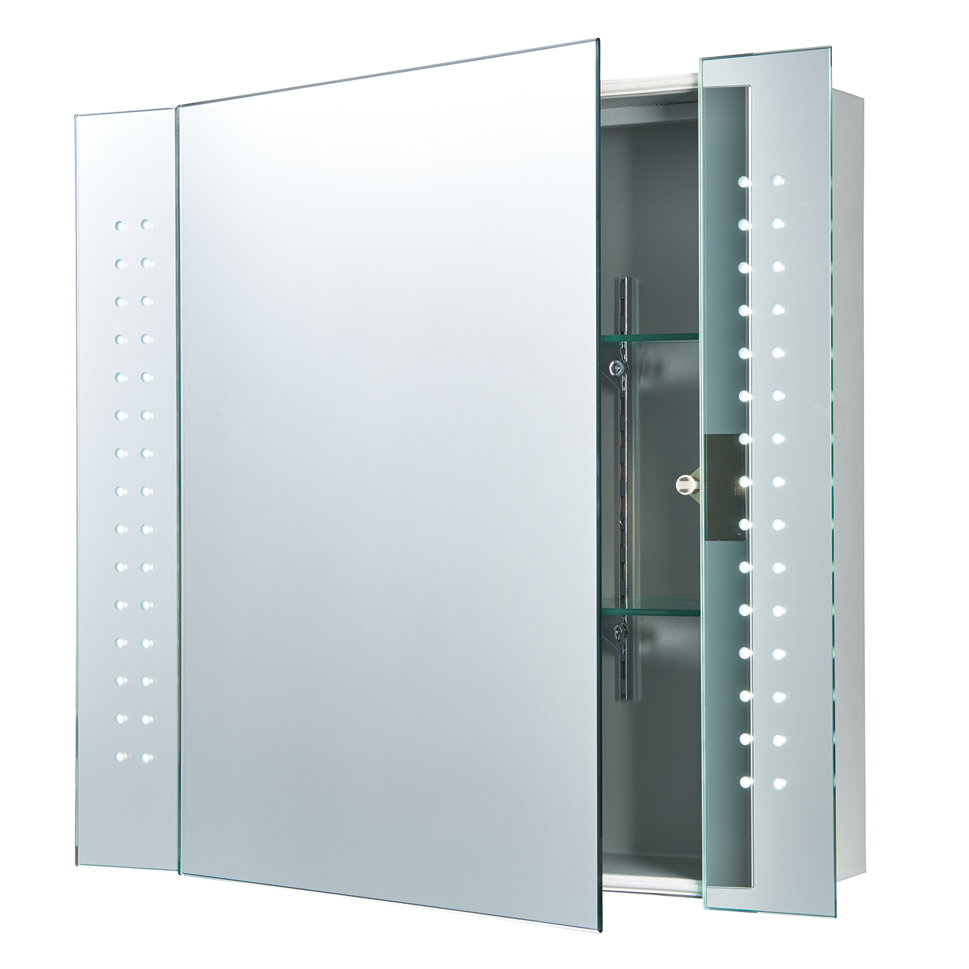 Endon Revelo LED shaver bathroom mirror cabinet IP44 5W sensor H: 600mm W: 650mm Thumbnail 1