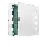 Endon Milos shaver cabinet bathroom mirror IP44 15W pull cord H: 600mm W: 650mm