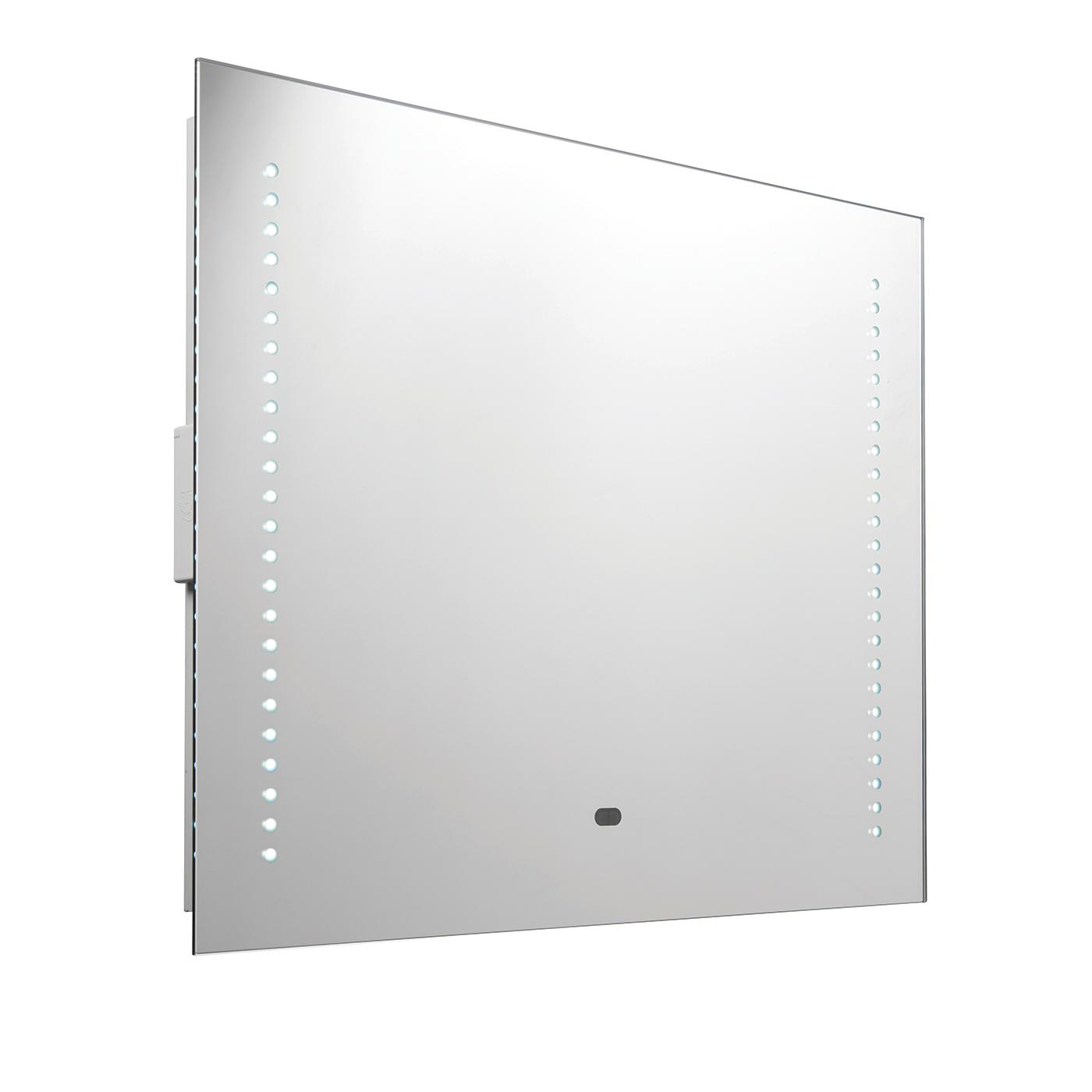 Rift RGB LED Shaver Bathroom Mirror IP44 10W Colour Change H 500mm W 600mm