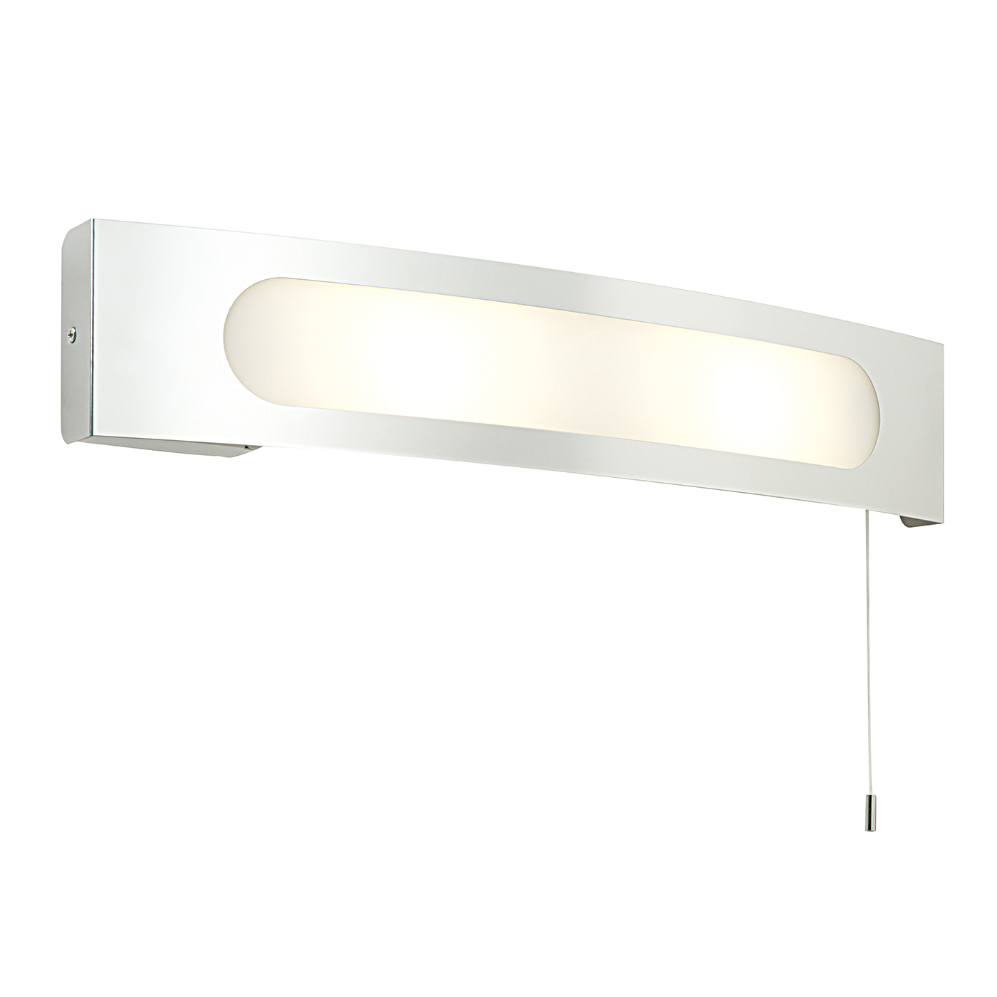 Endon Convesso bathroom shaver light 25W stainless steel frosted glass pull cord Thumbnail 1