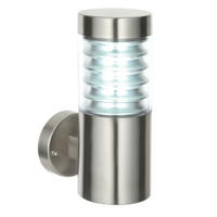Endon Equinox outdoor wall light IP44 23W Marine grade brushed stainless steel