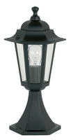 Endon Spengler outdoor post IP44 60W Matt black & clear glass