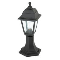 Endon Pimlico outdoor post IP44 60W Black polypropylene & clear glass