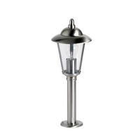 Endon Klien outdoor post IP44 60W Polished stainless steel & clear pc