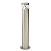 Endon Pyramid outdoor post IP44 3.5W Brushed stainless steel & clear pc
