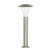 Endon Francis outdoor post IP44 6W Brushed stainless steel & frosted pc