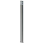 Endon Radian outdoor bollard IP44 1.5W Polished stainless steel & clear pc