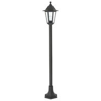 Endon Bayswater outdoor lamp post IP44 60W Black polypropylene & clear glass