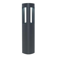 Endon Tribeca outdoor post IP54 9W Textured dark grey paint & frosted acrylic