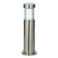 Endon Equinox outdoor post IP44 23W Marine grade brushed stainless steel & pc
